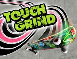 Touch-grind-skatebording